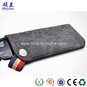 Premium felt glasses bag with stripe handle